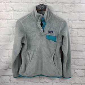 Patagonia Gray & Teal Re Tool Snap T Pull Over